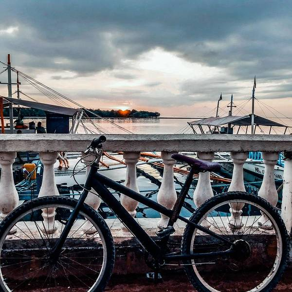 Bike Art Print featuring the photograph Traveller's point by Dynz Abejero
