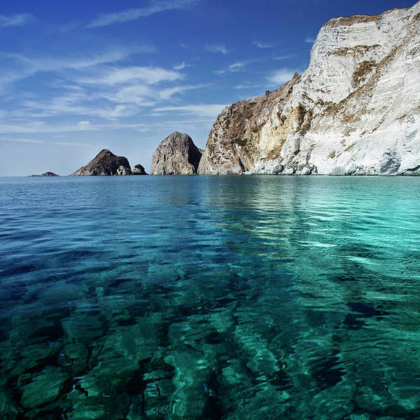 Scenics Art Print featuring the photograph Typical Mediterranean Sea In Italy by Piola666