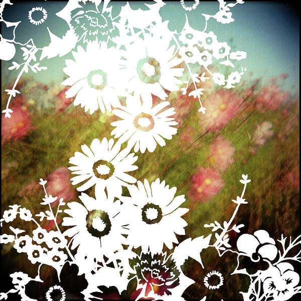 Outdoors Art Print featuring the digital art Wild Flowers by Jenene Chesbrough