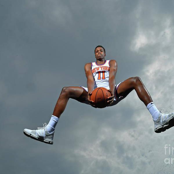 Nba Pro Basketball Art Print featuring the photograph Frank Ntilikina by Jesse D. Garrabrant