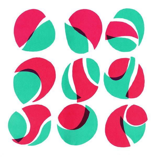 Abstract Art Print featuring the mixed media Geometric art by Vitali Komarov