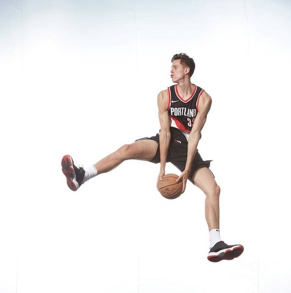 Nba Pro Basketball Art Print featuring the photograph Zach Collins by Nathaniel S. Butler