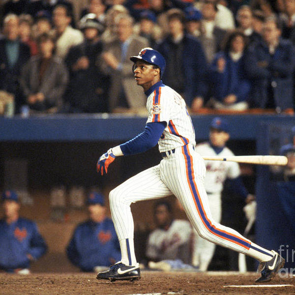 1980-1989 Art Print featuring the photograph Darryl Strawberry by T.g. Higgins