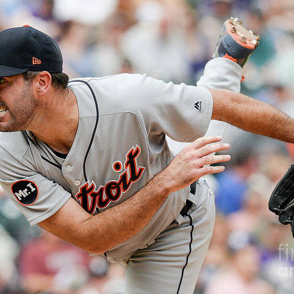 People Art Print featuring the photograph Justin Verlander by Dustin Bradford