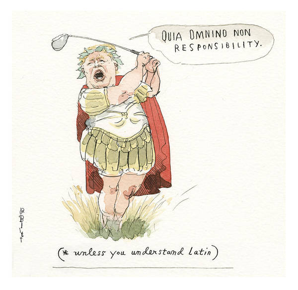Trump's Mandated Additions To The Classical Canon Art Print featuring the painting Trump's Mandated Additions to the Classical Canon by Barry Blitt