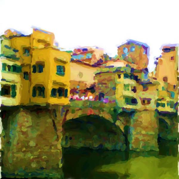 Florence Art Print featuring the mixed media Florence by Asbjorn Lonvig