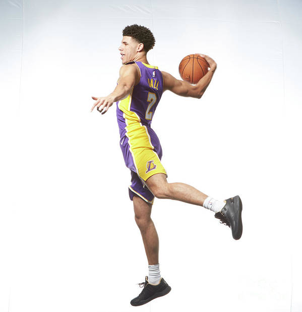 Nba Pro Basketball Art Print featuring the photograph Lonzo Ball by Nathaniel S. Butler