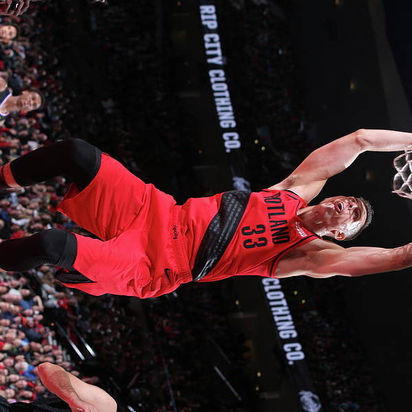 Nba Pro Basketball Art Print featuring the photograph Zach Collins by Sam Forencich