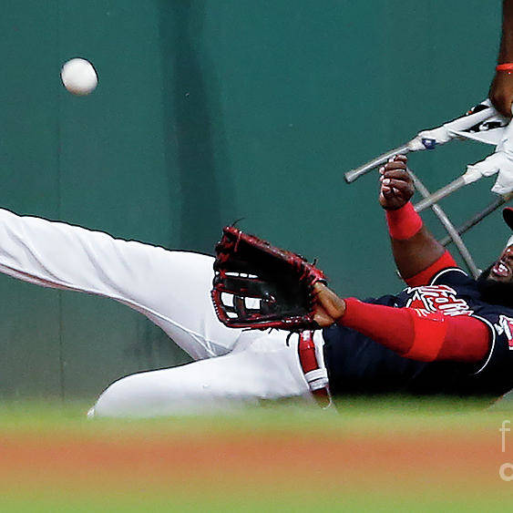 People Art Print featuring the photograph Abraham Almonte and Eric Hosmer by Ron Schwane