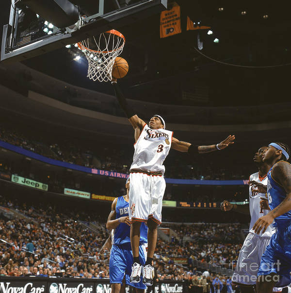 Nba Pro Basketball Art Print featuring the photograph Allen Iverson by Nathaniel S. Butler
