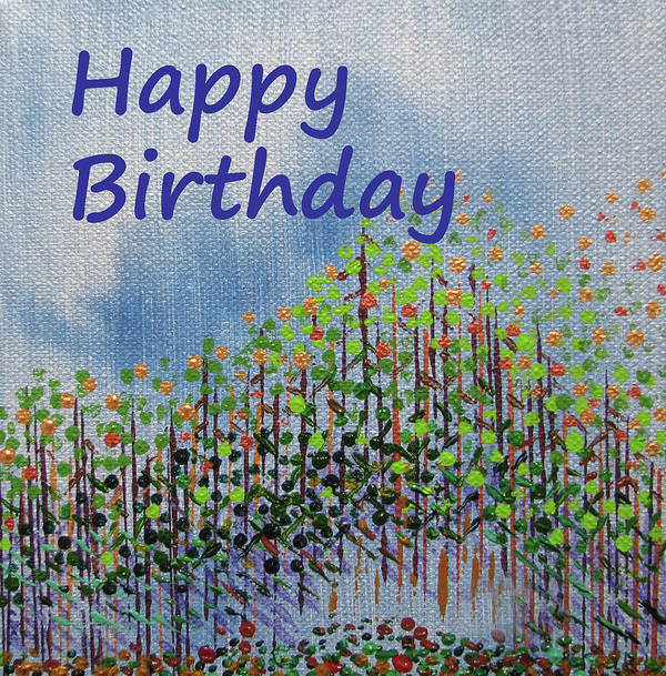 Birthday Art Print featuring the painting Birthday forest calm by Corinne Carroll