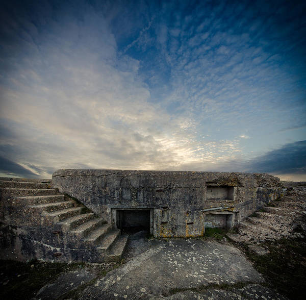 Tranquility Art Print featuring the photograph Concrete Defence by s0ulsurfing - Jason Swain