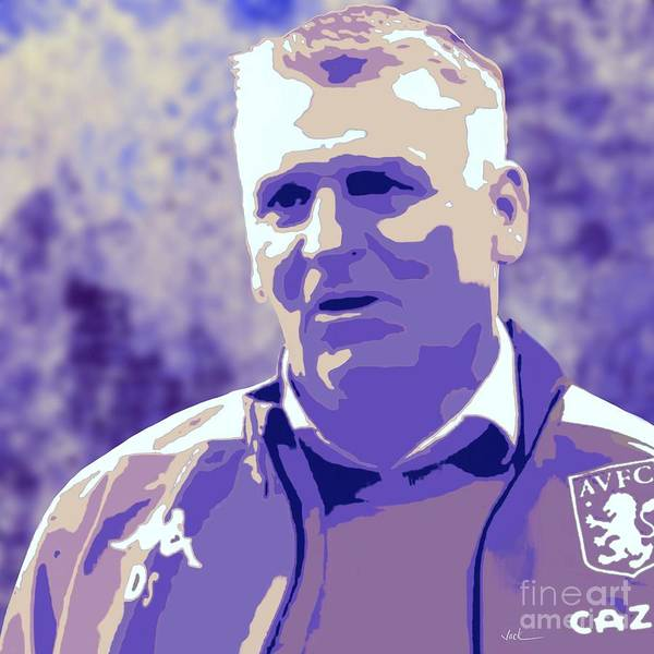 Aston Villa Art Print featuring the painting Dean Smith by Jack Bunds