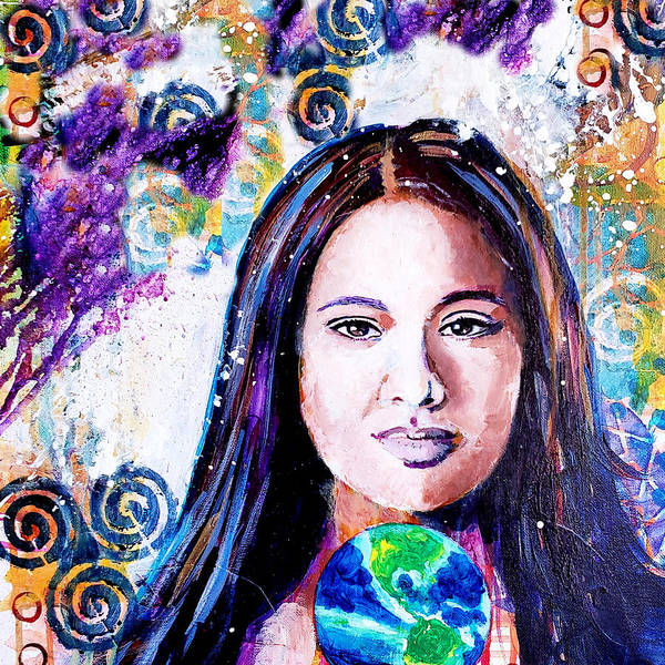 Earth Art Print featuring the painting Earth Goddess by Goddess Rockstar