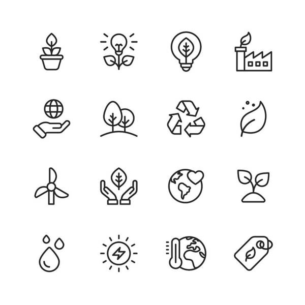 Environmental Conservation Art Print featuring the drawing Ecology and Environment Line Icons. Editable Stroke. Pixel Perfect. For Mobile and Web. Contains such icons as Leaf, Ecology, Environment, Lightbulb, Forest, Green Energy, Agriculture. by Rambo182