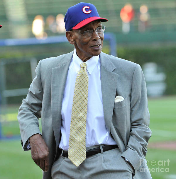 People Art Print featuring the photograph Ernie Banks by David Banks
