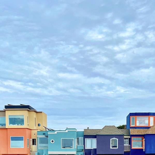 Art Print featuring the photograph Four Houses by Julie Gebhardt