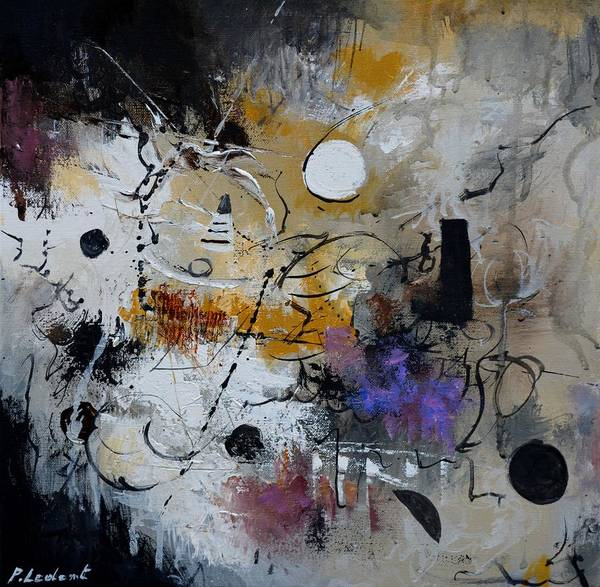 Abstract Art Print featuring the painting Hamilcar s strategy by Pol Ledent