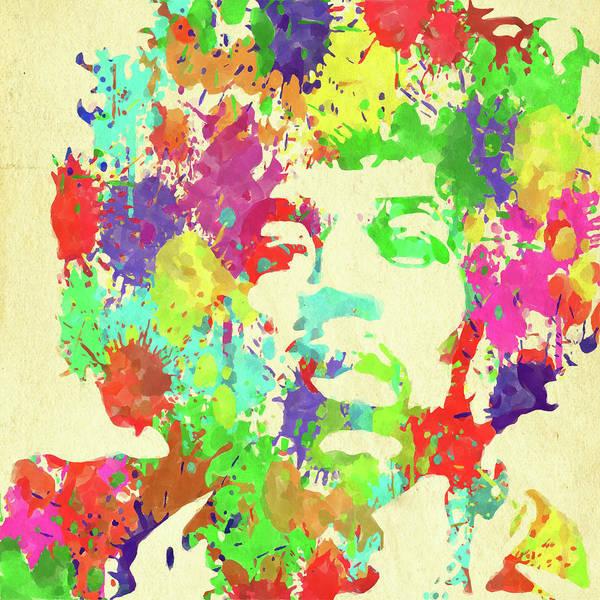 Jimi Hendrix Art Print featuring the photograph Jimi Hendrix Watercolor by Ricky Barnard