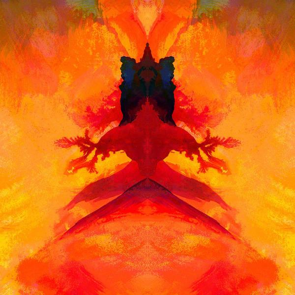 Kali Art Print featuring the digital art Kali by Peter Shor