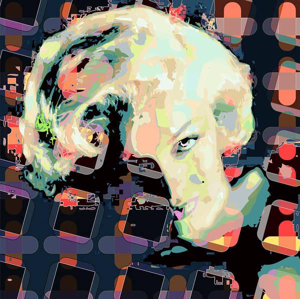 Marilyn Art Print featuring the digital art Marilyn by Scott Davis