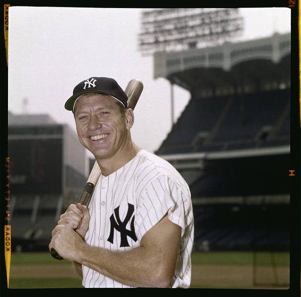 American League Baseball Art Print featuring the photograph Mickey Mantle by Louis Requena