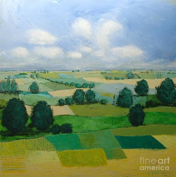 Landscape Art Print featuring the painting Morning Calm by Allan P Friedlander