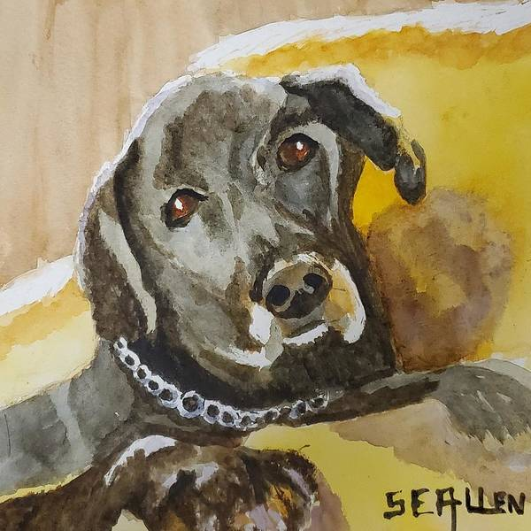 Dog Art Print featuring the painting My Friend Jack by Sharon E Allen