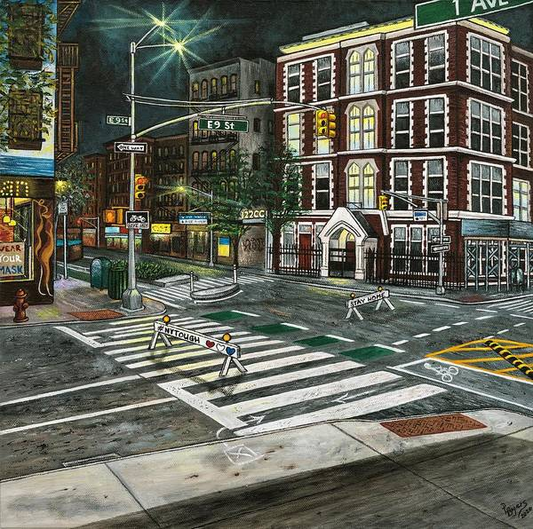 New York Art Print featuring the painting New York Tough by Donna L Byers