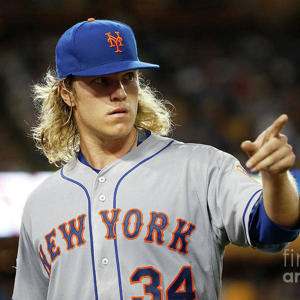 Game Two Art Print featuring the photograph Noah Syndergaard by Sean M. Haffey