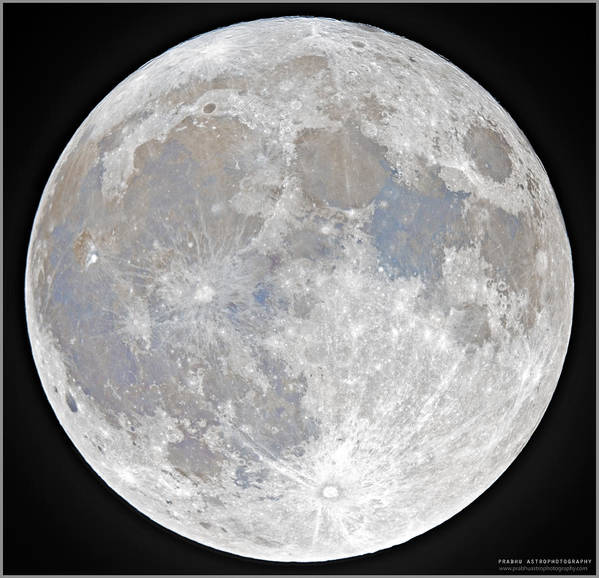 Fullmoon Art Print featuring the photograph October 2020 Halloween Full/Blue Moon by Prabhu Astrophotography