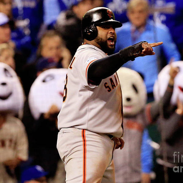 People Art Print featuring the photograph Pablo Sandoval by Jamie Squire