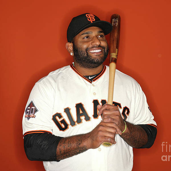 Media Day Art Print featuring the photograph Pablo Sandoval by Patrick Smith