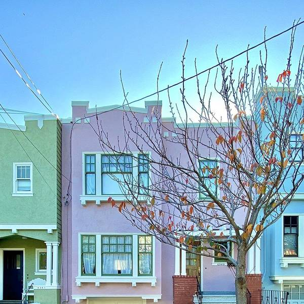 Art Print featuring the photograph Pastel Houses by Julie Gebhardt