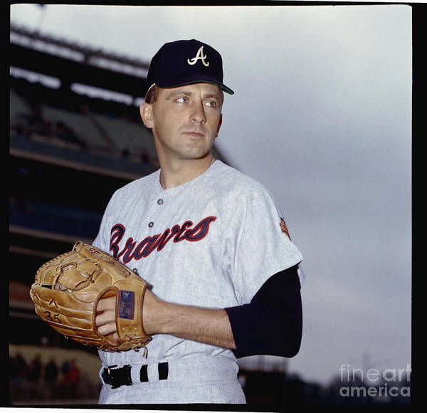 Baseball Pitcher Art Print featuring the photograph Phil Niekro by Louis Requena