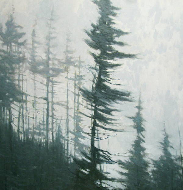 Art Print featuring the painting Pine Portrait by Mary Jo Van Dell