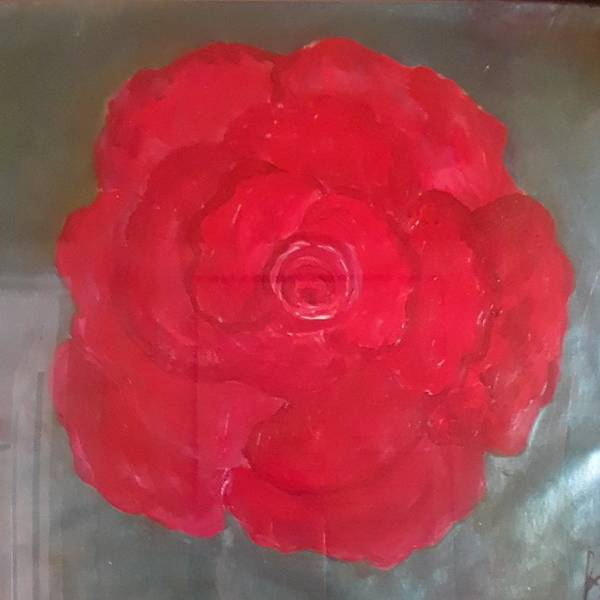 Red Art Print featuring the painting Red Rose by Carol P Kingsley