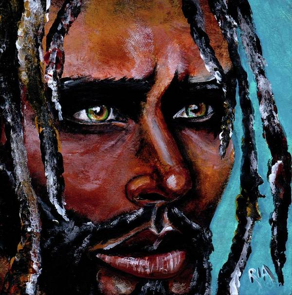 Eyes Art Print featuring the painting Selfless Life by Artist RiA