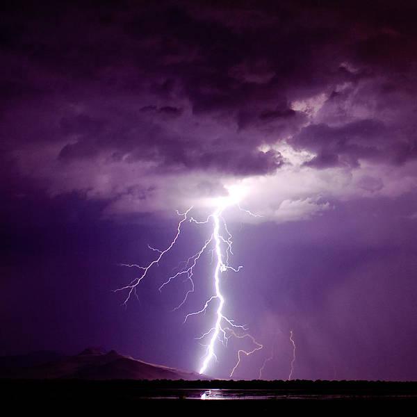 Thunderstorm Art Print featuring the photograph Thor's Hammer by Scott Stringham photographer