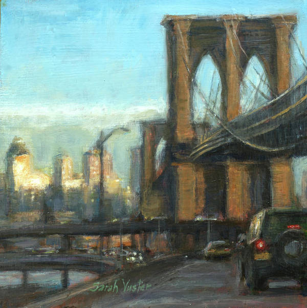 New York City Art Print featuring the painting To The Fdr North by Sarah Yuster