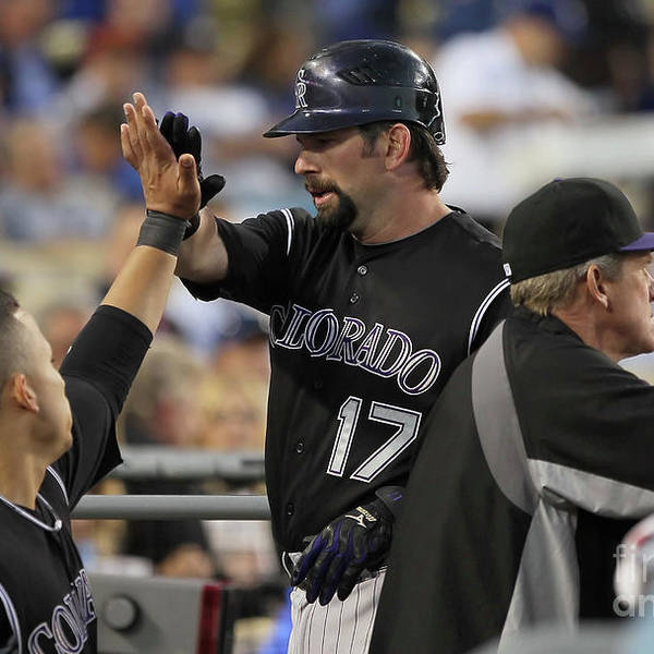 People Art Print featuring the photograph Todd Helton by Jeff Gross