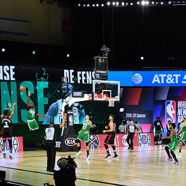 Art Print featuring the photograph Toronto Raptors v Boston Celtics - Game Three by Jesse D. Garrabrant