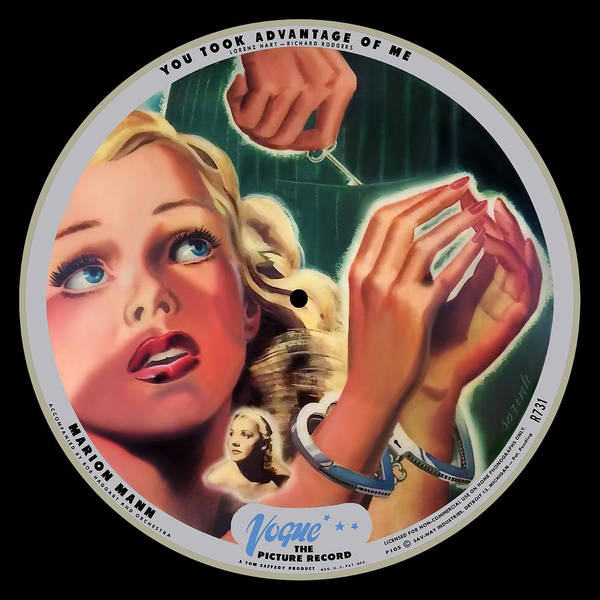Vogue Picture Record Art Print featuring the digital art Vogue Record Art - R 731 - P 105 - Square Version by John Robert Beck