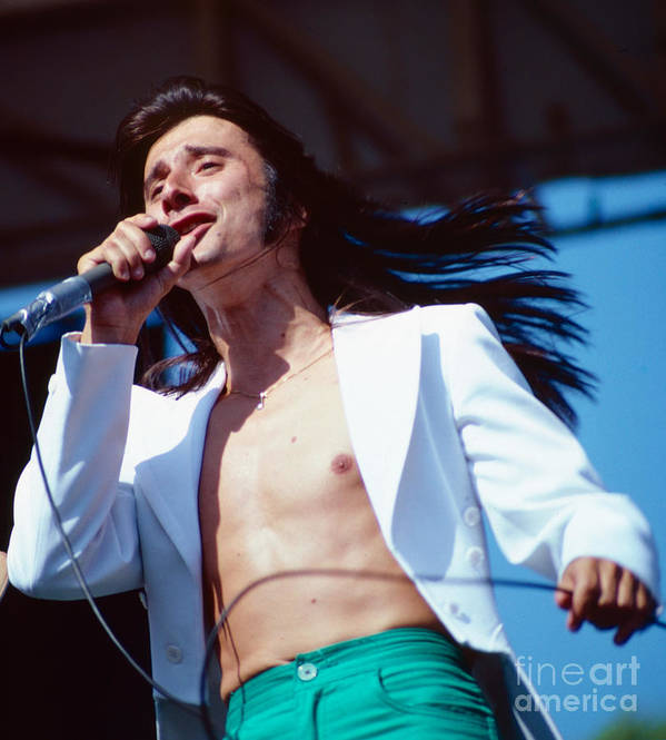 Concert Photos For Sale Art Print featuring the photograph Steve Perry Of Journey At Day On The Green by Daniel Larsen