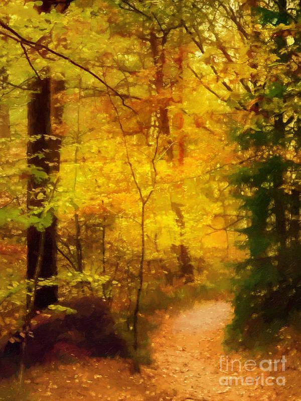 Autumn Art Print featuring the painting Autumn Glow by Lutz Baar