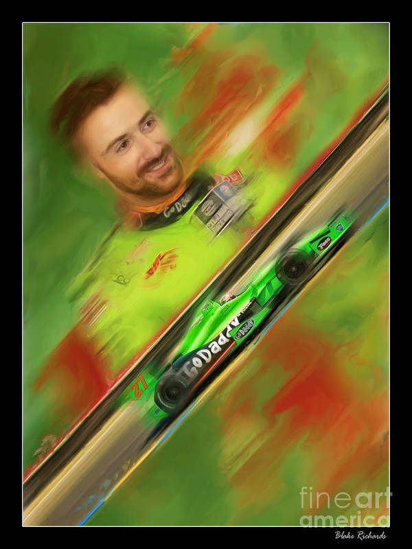 James Hinchcliffe Art Print featuring the photograph James Hinchcliffe by Blake Richards