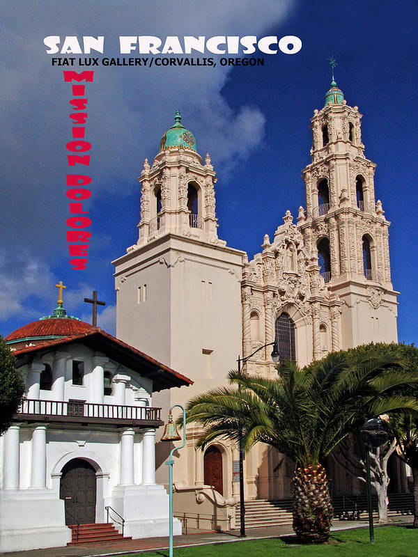 Mission Dolores Art Print featuring the photograph San Francisco Missio Dolores by Michael Moore