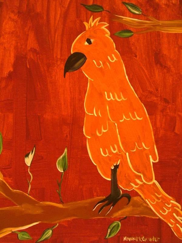 Birds Art Print featuring the painting Big Bird by Keyon McGruder