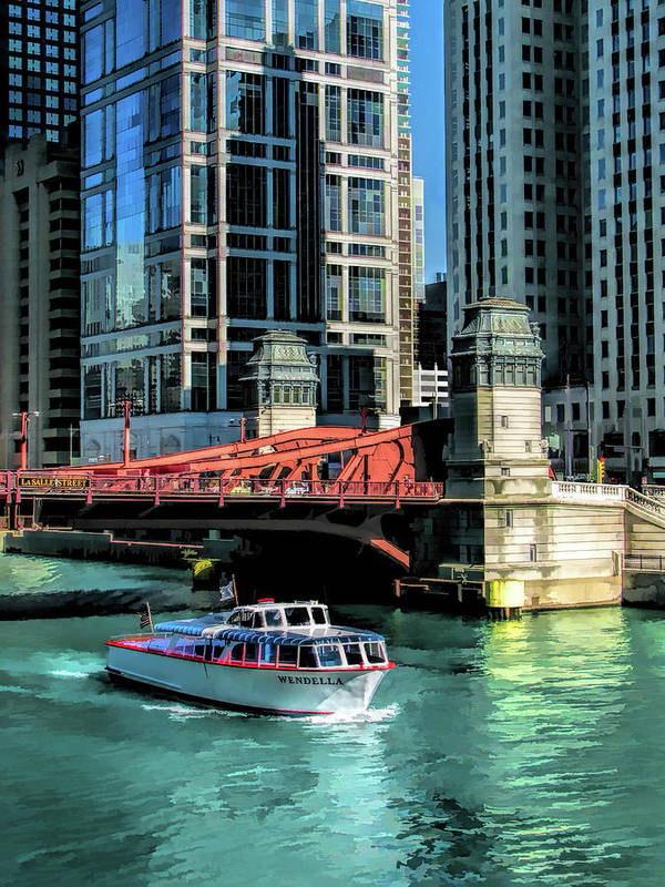 Chicago Art Print featuring the painting Chicago Wendella Boat Tours by Christopher Arndt