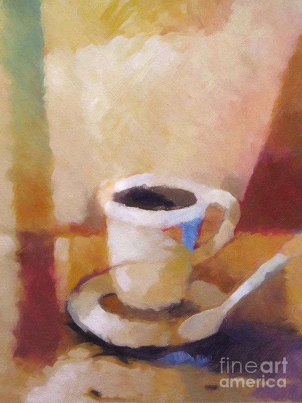 Coffee Art Print featuring the painting Coffee by Lutz Baar